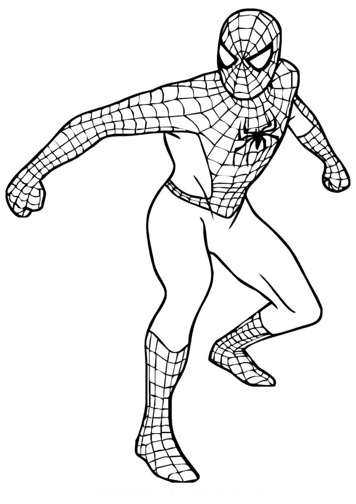 Free Printable Spiderman Coloring Pages For Kids in 2020 ... | 1024x724