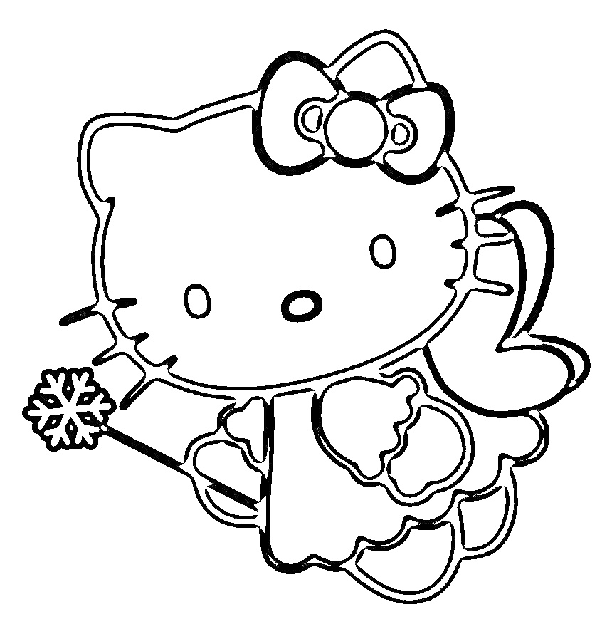 Hello Kitty coloring pages on Coloring-Book.info | 890x860