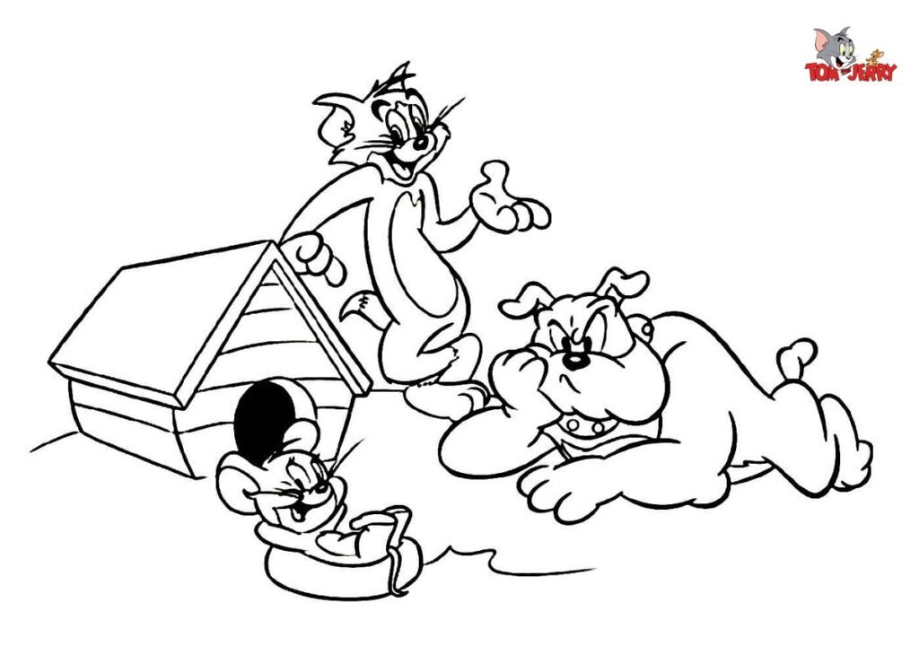 Tom and Jerry Coloring Pages to Print